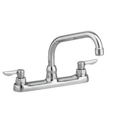 AMERICAN STANDARD 6408.140.002 MONTERREY TOP-MOUNT FAUCET WITH 8 INCH TUBULAR SWIVEL SPOUT IN POLISHED CHROME, 1.5 GPM