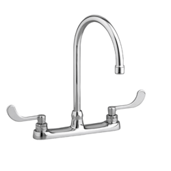 AMERICAN STANDARD 6409.170.002 MONTERREY 2-HANDLE TOP-MOUNT GOOSENECK KITCHEN FAUCET IN POLISHED CHROME, 1.5 GPM
