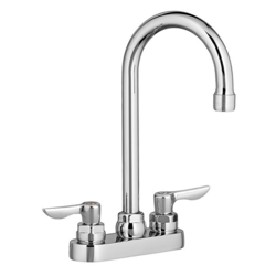 AMERICAN STANDARD 7502.145.002 MONTERREY 2-HANDLE CENTERSET LAVATORY FAUCET WITH LEVER HANDLES AND GRID STRAINER DRAIN IN POLISHED CHROME, 0.5 GPM