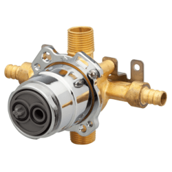 DANZE G00GS504 TREYSTA TUB AND SHOWER VALVE WITH HORIZONTAL INPUTS WITHOUT STOPS