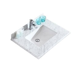 LAVIVA 313SQ1H-30-WC WHITE CARRARA COUNTERTOP 30 INCH SINGLE HOLE WITH RECTANGLE SINK