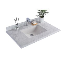 LAVIVA 313SQ1H-36-WC WHITE CARRARA COUNTERTOP 36 INCH SINGLE HOLE WITH RECTANGLE SINK