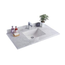 LAVIVA 313SQ1H-42-WC WHITE CARRARA COUNTERTOP 42 INCH SINGLE HOLE WITH RECTANGLE SINK