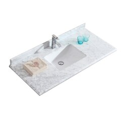 LAVIVA 313SQ1H-48-WC WHITE CARRARA COUNTERTOP 48 INCH SINGLE HOLE WITH RECTANGLE SINK