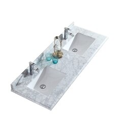 LAVIVA 313SQ1H-60-WC WHITE CARRARA COUNTERTOP 60 INCH SINGLE HOLE WITH RECTANGLE SINK