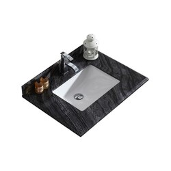 LAVIVA 313SQ1H-30-BW BLACK WOOD COUNTERTOP 30 INCH SINGLE HOLE WITH RECTANGLE SINK