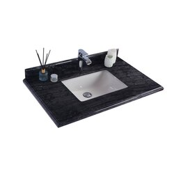 LAVIVA 313SQ1H-36-BW BLACK WOOD COUNTERTOP 36 INCH SINGLE HOLE WITH RECTANGLE SINK