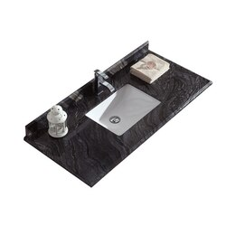 LAVIVA 313SQ1H-48-BW BLACK WOOD COUNTERTOP 48 INCH SINGLE HOLE WITH RECTANGLE SINK