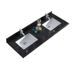 LAVIVA 313SQ1H-60-BW BLACK WOOD COUNTERTOP 60 INCH SINGLE HOLE WITH RECTANGLE SINK