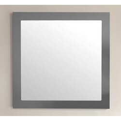 LAVIVA 313FF-3030MG FULLY FRAMED 30 INCH MAPLE MIRROR IN GREY