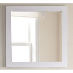 LAVIVA 313FF-3030W FULLY FRAMED 30 INCH MIRROR IN WHITE