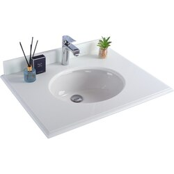 LAVIVA 313RD1H-30-PW PURE WHITE COUNTERTOP 30 INCH SINGLE HOLE WITH ROUND SINK