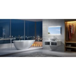INFURNITURE WS-BT-V8-M 75 INCH POLYSTONE LEAF FREE STANDING BATHTUB IN MATTE WHITE