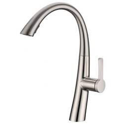 INFURNITURE F-K863OB1-BN PULL OUT KITCHEN FAUCET IN BRUSHED NICKEL