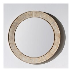 INFURNITURE WK1812M 35 x 35 INCH SOLID RECYCLED FIR 35 INCH ROUND MIRROR