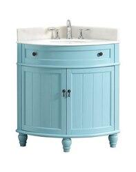 MODETTI MOD47533BL ANGOLO 34 INCH SINGLE BATHROOM VANITY SET IN BLUE