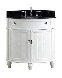 MODETTI MOD47533WH ANGOLO 34 INCH SINGLE BATHROOM VANITY SET IN WHITE
