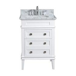MODETTI MOD10022WH-24 RIVOLI 24 INCH SINGLE BATHROOM VANITY SET IN WHITE
