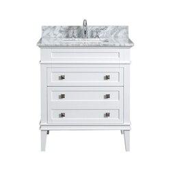 MODETTI MOD10022WH-30 RIVOLI 30 INCH SINGLE BATHROOM VANITY SET IN WHITE