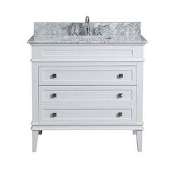 MODETTI MOD10022WH-36 RIVOLI 36 INCH SINGLE BATHROOM VANITY SET IN WHITE