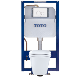 TOTO CWT486MFG MARIS WALL-HUNG TOILET AND DUOFIT IN-WALL TANK SYSTEM, 1.5 GPF AND 0.9 GPF, ELONGATED BOWL