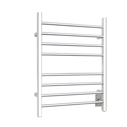WARMLY YOURS TW-SR-08PS-HW SIERRA 24 INCH HARDWIRED TOWEL WARMER IN POLISHED STAINLESS STEEL