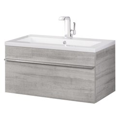CUTLER KITCHEN AND BATH FV TR SOHO30 TROUGH COLLECTION 30 INCH WALL MOUNT MODERN BATHROOM VANITY IN SOHO