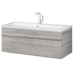 CUTLER KITCHEN AND BATH FV TR SOHO42 TROUGH COLLECTION 42 INCH WALL MOUNT MODERN BATHROOM VANITY IN SOHO