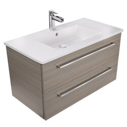 CUTLER KITCHEN AND BATH FV ARIA36 SILHOUETTE COLLECTION 36 INCH WALL MOUNT BATHROOM VANITY WITH TOP IN ARIA