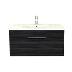 CUTLER KITCHEN AND BATH FV SB36 TEXTURES COLLECTION 36 INCH WALL MOUNT BATHROOM VANITY WITH TOP IN SPRING BLOSSOM