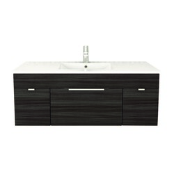 CUTLER KITCHEN AND BATH FV SB48 TEXTURES COLLECTION 48 INCH WALL MOUNT BATHROOM VANITY WITH TOP IN SPRING BLOSSOM