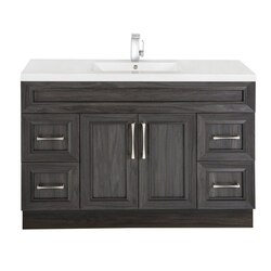 CUTLER KITCHEN AND BATH CCKATR48SBT CLASSIC COLLECTION 48 INCH BATHROOM VANITY WITH SINGLE BOWL TOP IN KAROO ASH