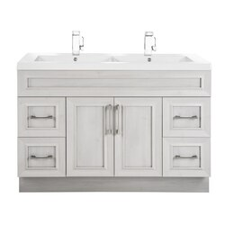 CUTLER KITCHEN AND BATH CCMCTR48DBT CLASSIC COLLECTION 48 INCH BATHROOM VANITY WITH DOUBLE BOWL TOP IN MEADOWS COVE