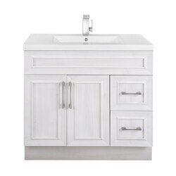 CUTLER KITCHEN AND BATH CCTRFH36RHT CLASSIC COLLECTION 36 INCH BATHROOM VANITY IN FOGO HARBOR