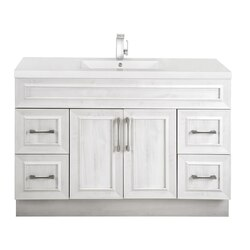 CUTLER KITCHEN AND BATH CCTRFH48SBT CLASSIC COLLECTION 48 INCH BATHROOM VANITY WITH SINGLE BOWL TOP IN FOGO HARBOR