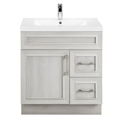 CUTLER KITCHEN AND BATH CCVMTR30RHT CLASSIC COLLECTION 30 INCH BATHROOM VANITY IN VEIL OF MIST