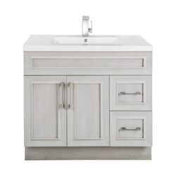 CUTLER KITCHEN AND BATH CCVMTR36RHT CLASSIC COLLECTION 36 INCH BATHROOM VANITY IN VEIL OF MIST