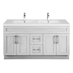 CUTLER KITCHEN AND BATH CCVMTR60DBT CLASSIC COLLECTION 60 INCH BATHROOM VANITY IN VEIL OF MIST