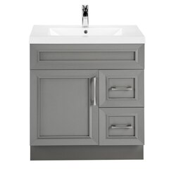 CUTLER KITCHEN AND BATH CCFTR30RHT CLASSIC COLLECTION 30 INCH BATHROOM VANITY IN FOSSIL