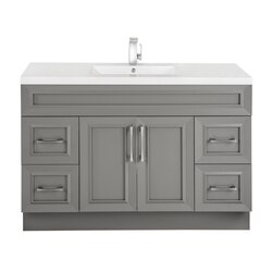 CUTLER KITCHEN AND BATH CCFTR48DBT CLASSIC COLLECTION 48 INCH BATHROOM VANITY IN FOSSIL