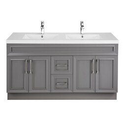 CUTLER KITCHEN AND BATH CCFTR60DBT CLASSIC COLLECTION 60 INCH BATHROOM VANITY IN FOSSIL