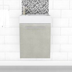 CUTLER KITCHEN AND BATH FV EUROG BOUTIQUE COLLECTION SPACE SAVER 18 INCH WALL MOUNT BATHROOM VANITY IN ANTRACITA