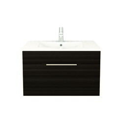 CUTLER KITCHEN AND BATH FV DW30 TEXTURES COLLECTION 30 INCH WALL MOUNT BATHROOM VANITY WITH TOP IN DRIFTWOOD