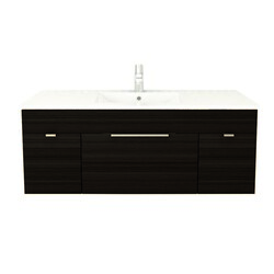 CUTLER KITCHEN AND BATH FV DW48 TEXTURES COLLECTION 48 INCH WALL MOUNT BATHROOM VANITY WITH TOP IN DRIFTWOOD