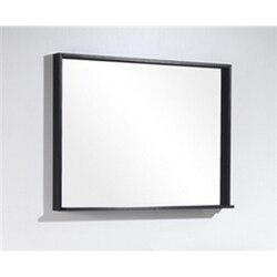 KUBEBATH ASM38-GW BLISS 38 INCH FRAMED MIRROR WITH SHELVE IN GLOSS WHITE