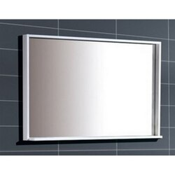 KUBEBATH ASM44-GW BLISS 44 INCH FRAMED MIRROR WITH SHELVE IN GLOSS WHITE