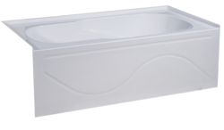 SWISS MADISON SM-AB546 IVY 60 X 30 INCH ALCOVE SOAKING BATHTUB WITH APRON SKIRT AND RIGHT-HAND DRAIN