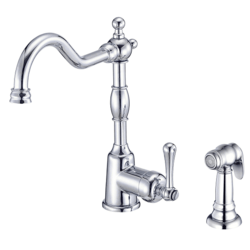 DANZE D401157 OPULENCE SINGLE HANDLE KITCHEN FAUCET WITH SPRAY, 1.75  GPM