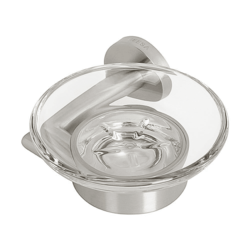 GEESA 6503-05 NEMOX COLLECTION WALL MOUNTED FROSTED GLASS SOAP DISH IN CHROME