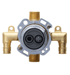 DANZE G00GS527 TREYSTA TUB AND SHOWER VALVE VERTICAL INPUTS WITHOUT STOPS- COLD EXPANSION PEX